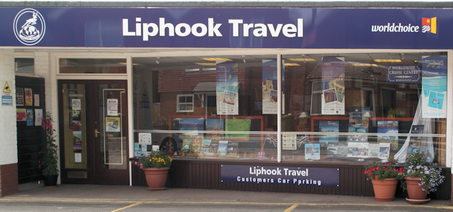 Shop front - Liphook Travel